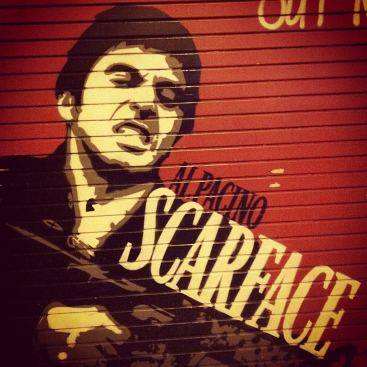 Al Pacino as Tony Montana from the 1983 movie Scarface