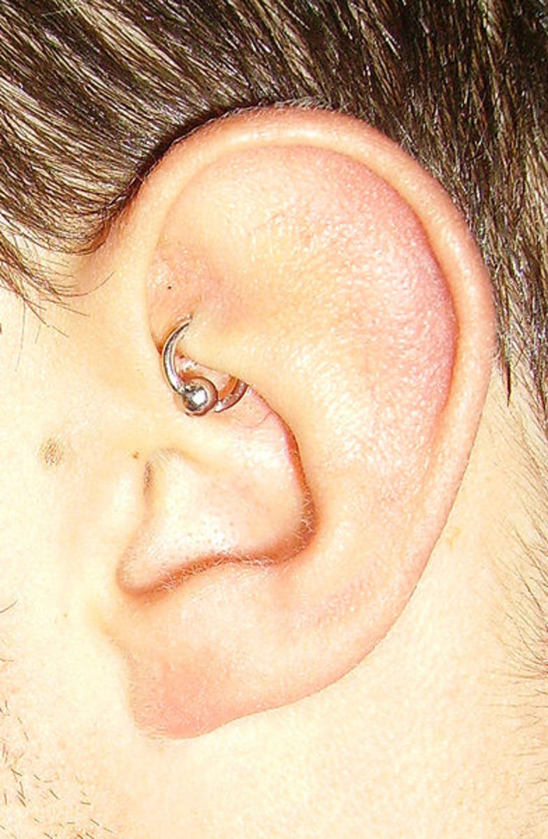 Infected Rook Piercing Symptoms- Treating With Salt and H2Ocean Aftercare Spray
