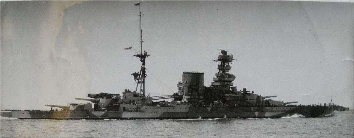 The HMS Barham during World War II.