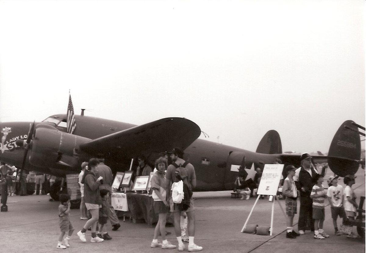 A Lockheed Hudson at Andrews AFB, May 1996.  A Hudson disabled the U-331.