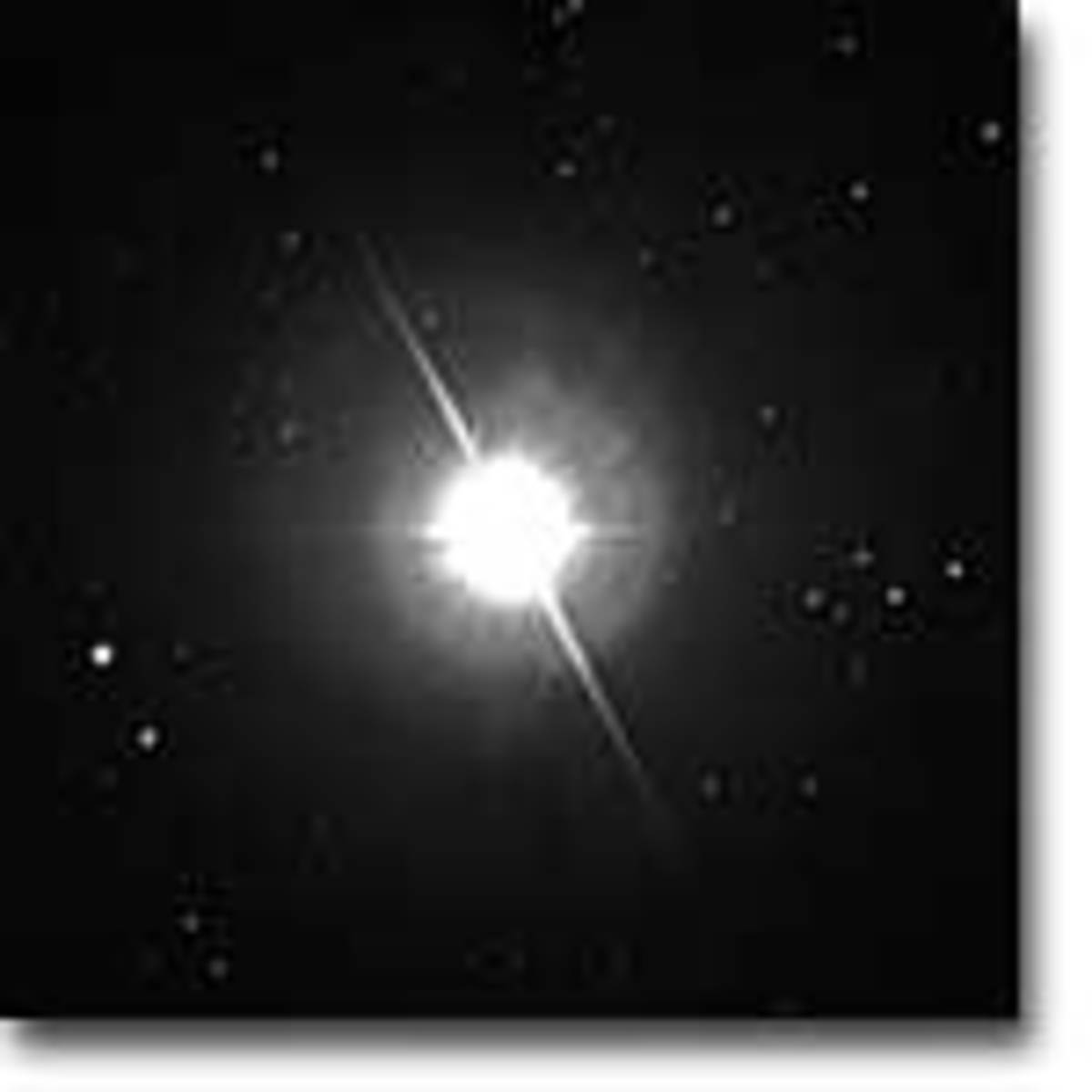 The star Altair as seen from the Wilson Observatory.