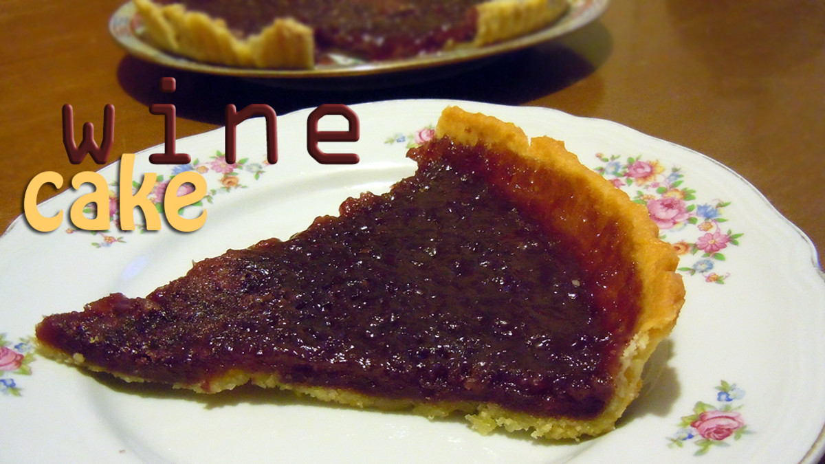 red wine cake's recipe