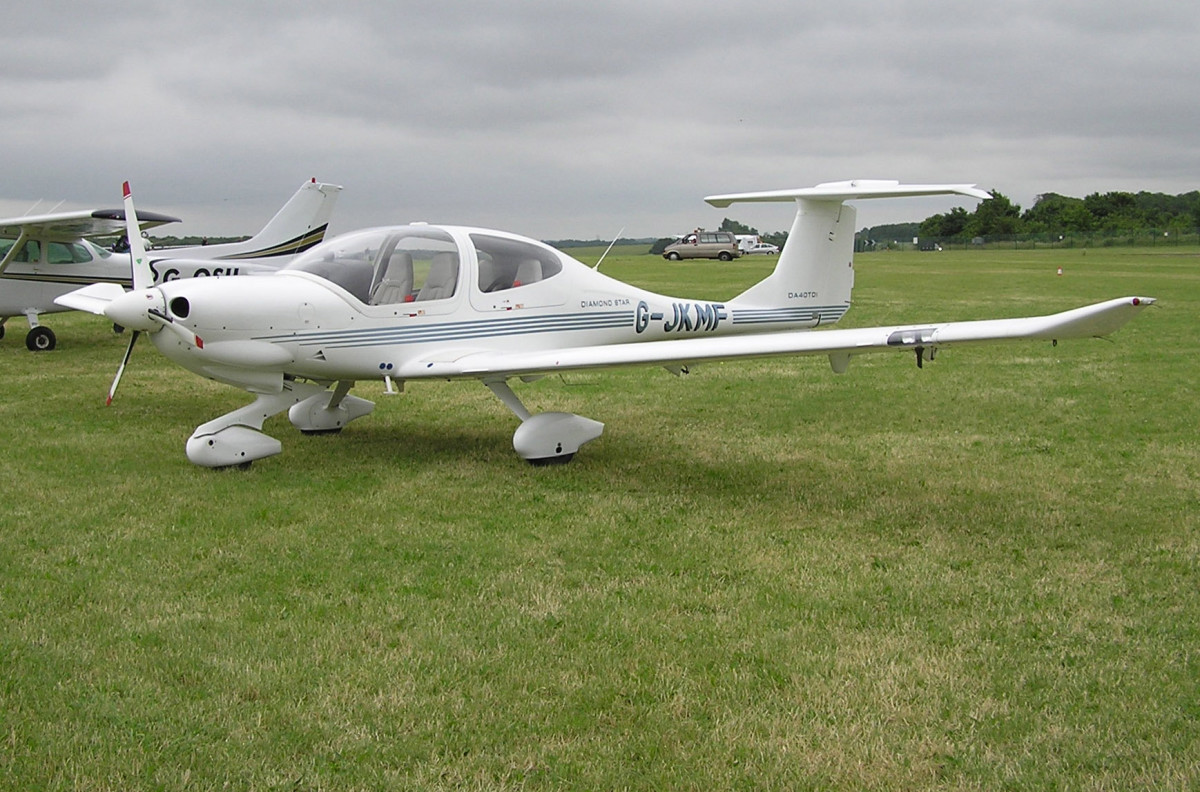 Diamond DA40 Diamond Star is an Austrian four-seat, single engine, light aircraft constructed from composite materials. Built in both Austria and Canada, it was developed as a four-seat version of the earlier DA20 by Diamond Aircraft Industries.