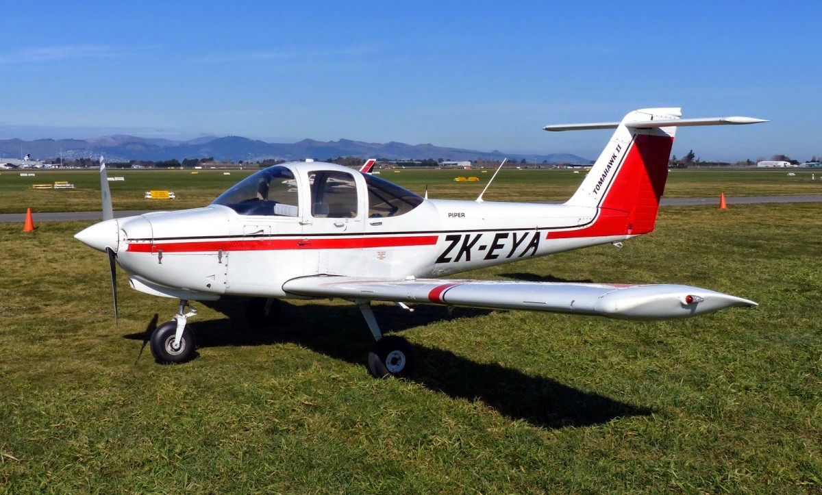Piper PA-38 Tomahawk is a two-seat, fixed tricycle gear general aviation airplane, originally designed for flight training, touring and personal use.