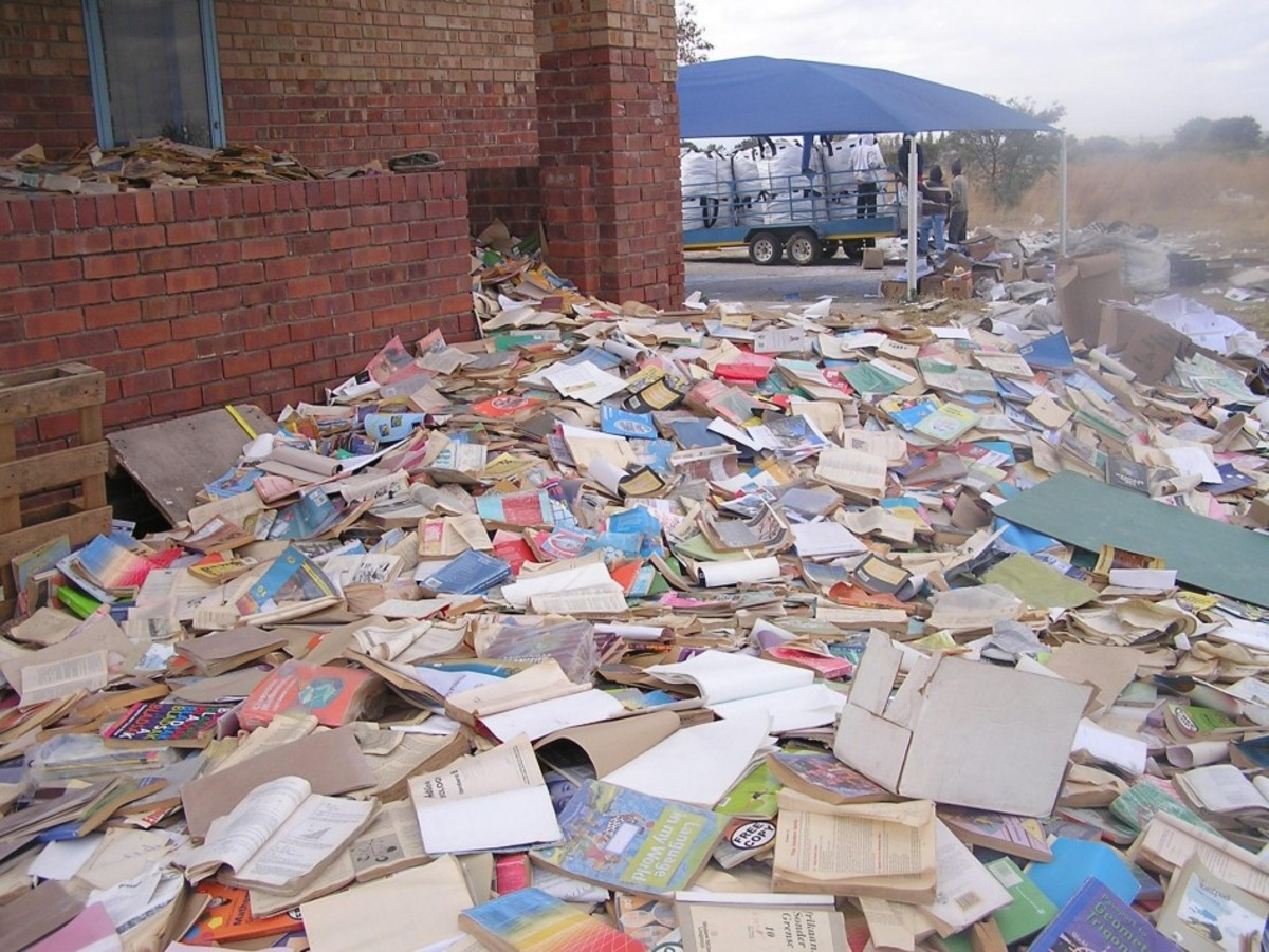Journalists visiting a disused teachers' college in South Africa have uncovered a hoard of wrecked and discarded textbooks, including the biography of national hero Nelson Mandela, in a northern province where more than  5,000 schools are said to be