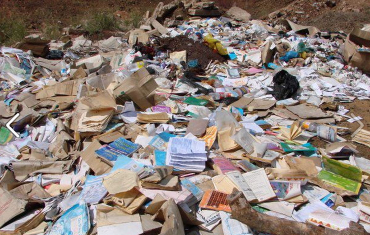 Textbooks dumped near Komatipoort in Mpumalanga