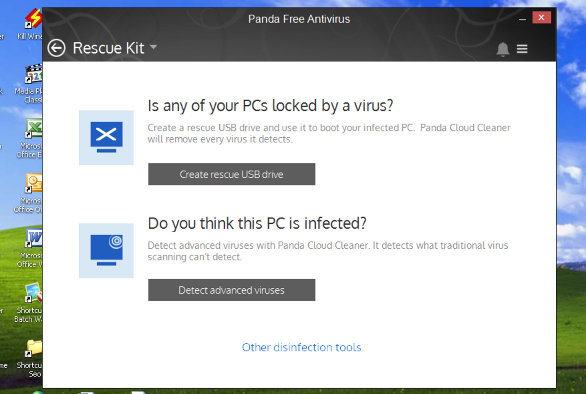 Panda cloud antivirus rescue kit tab