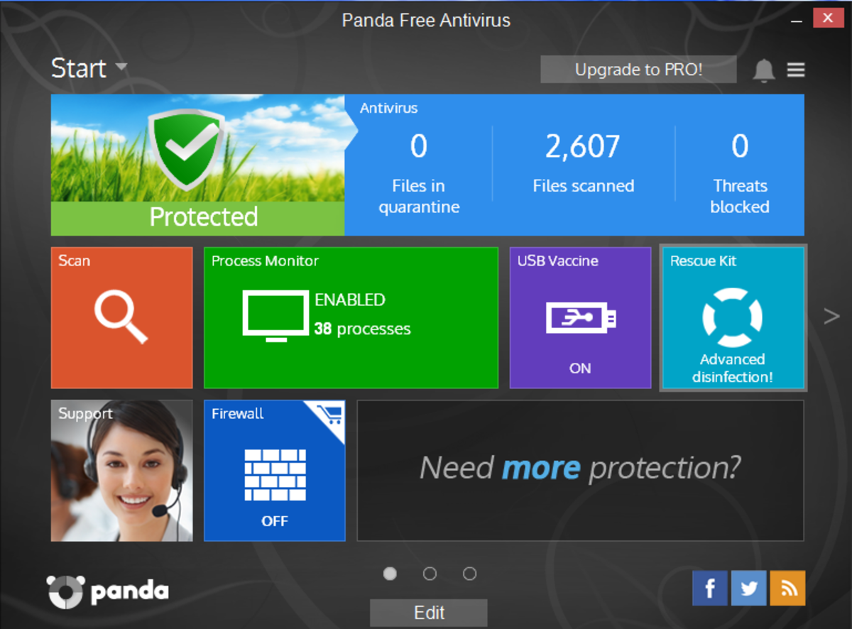 Panda Cloud Antivirus main