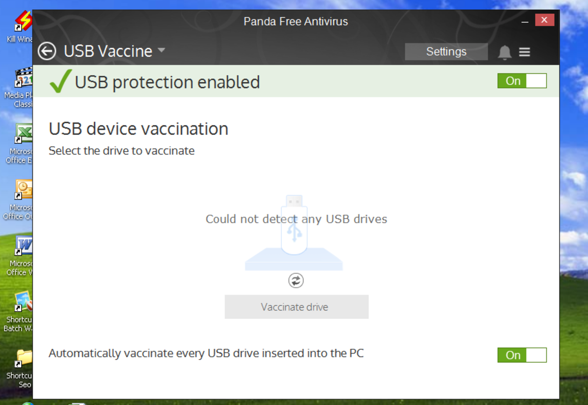Panda cloud antivirus usb vaccine tab