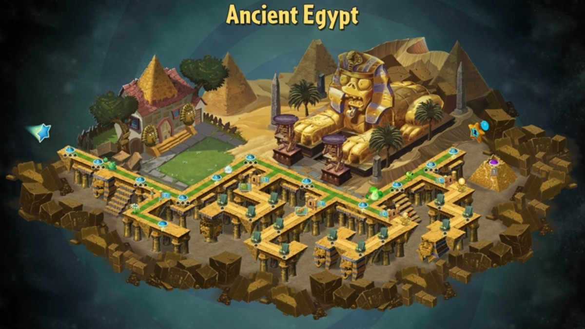 Ancient Egypt's map