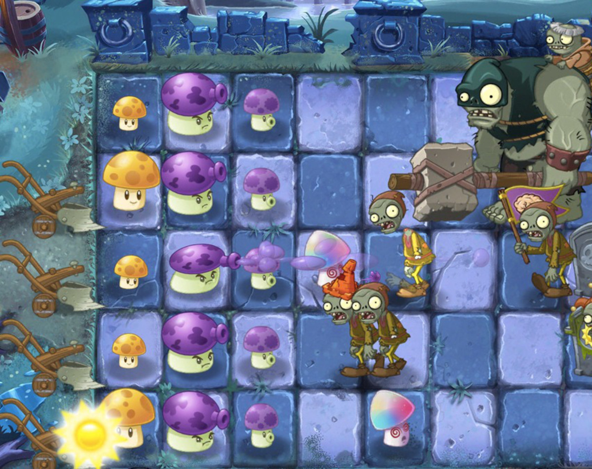 Dark Ages plants and zombies