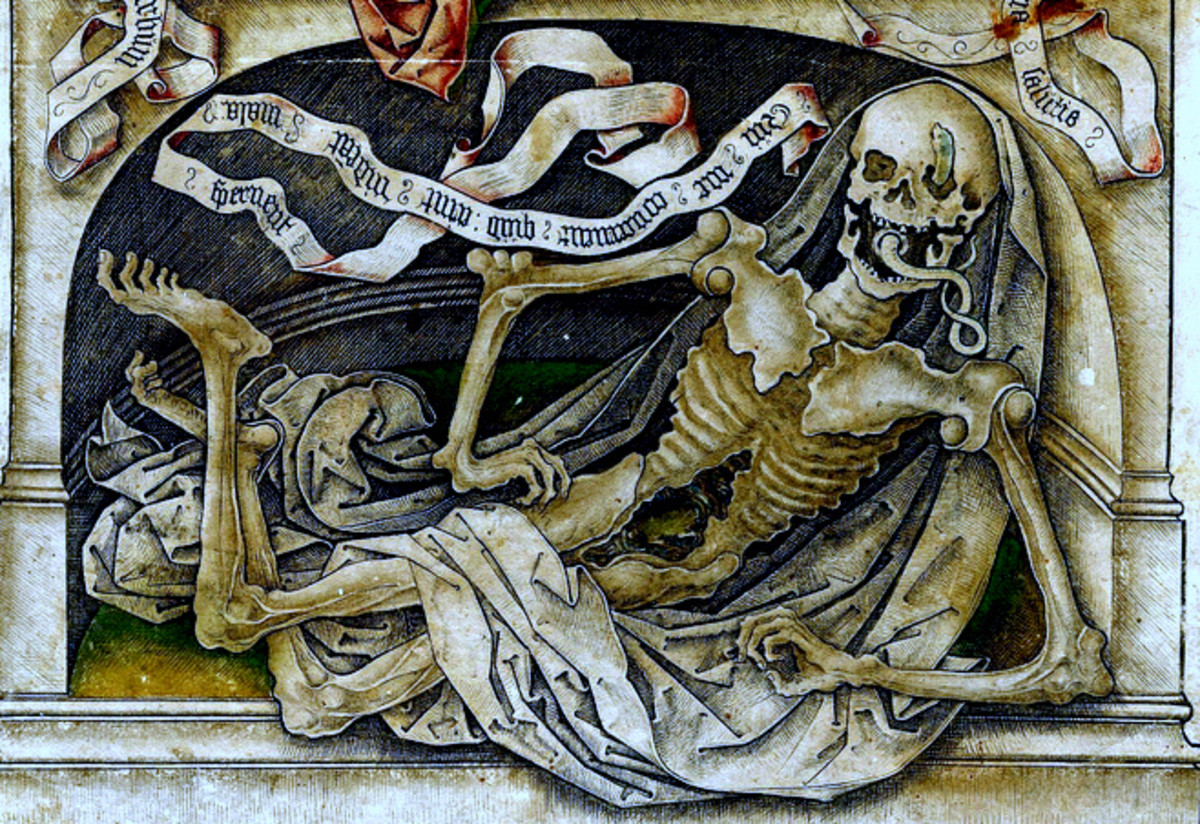 Medieval plague art