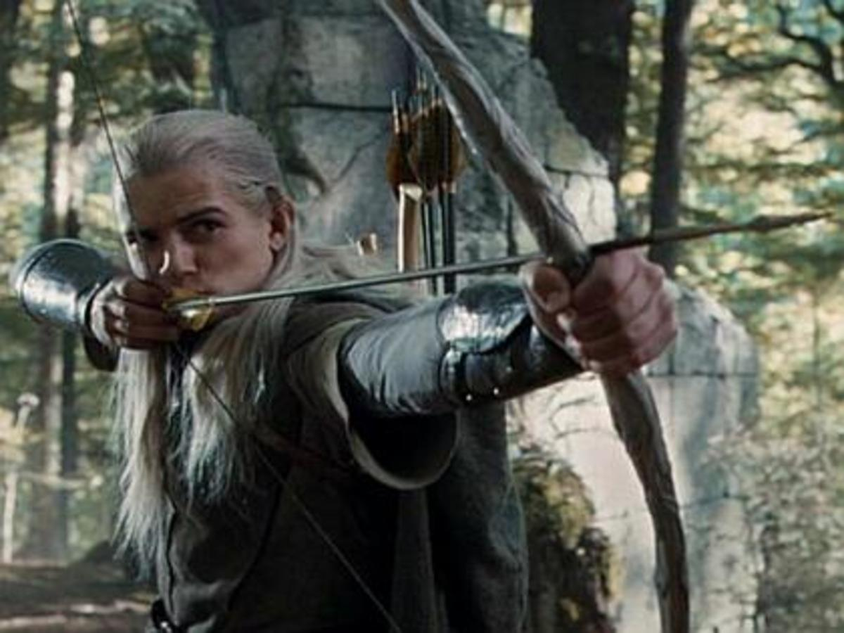 Legolas with his bow and arrows