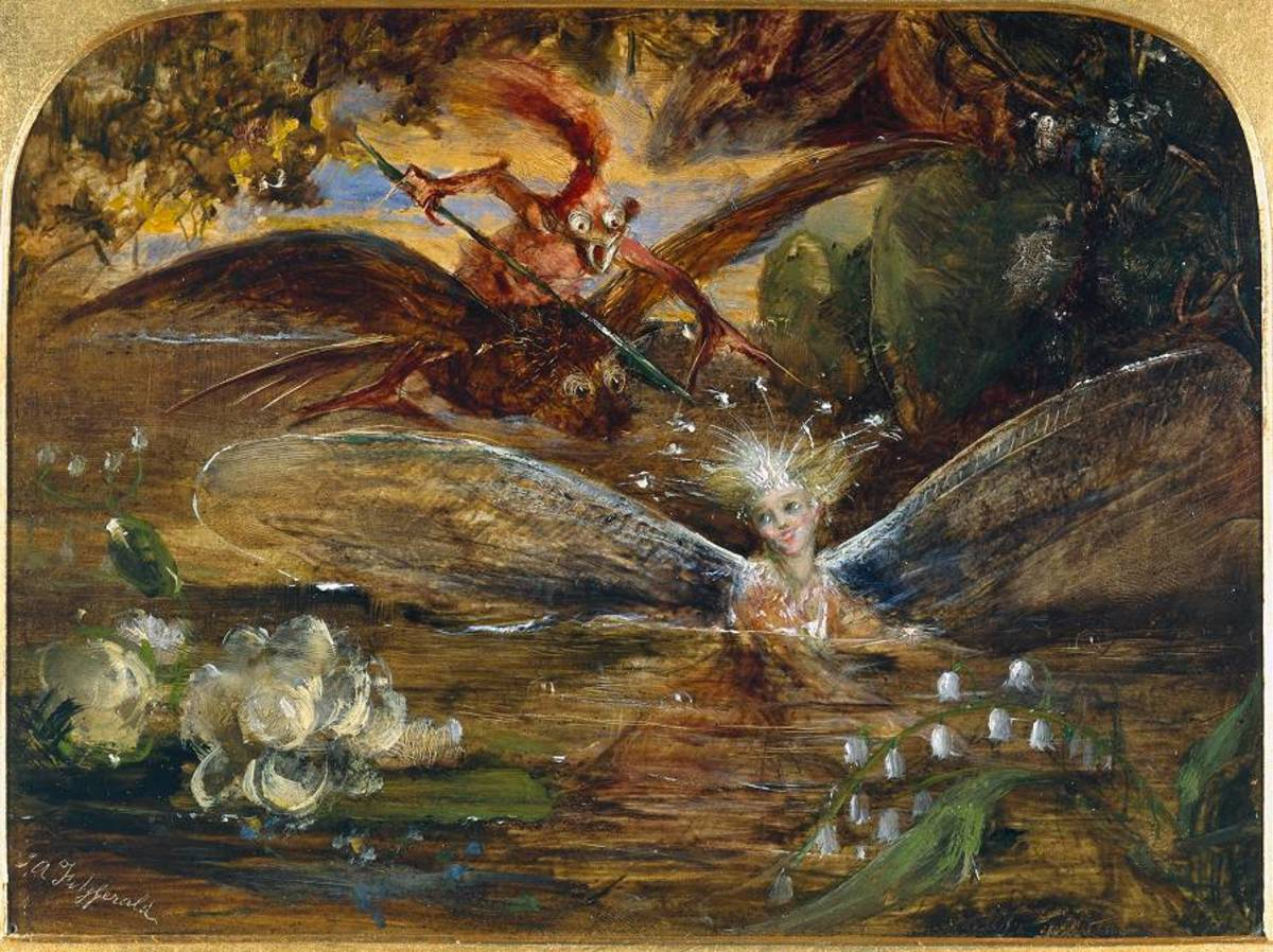 """The Fairy's Lake"" by John Anster Fitzgerald"