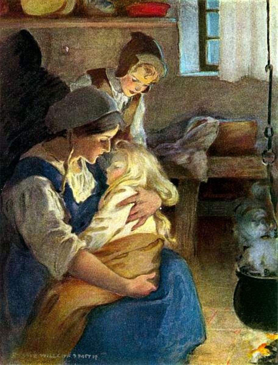 From The Princess and the Goblin by George MacDonald, illustrated by Jessie Willcox Smith, 1920