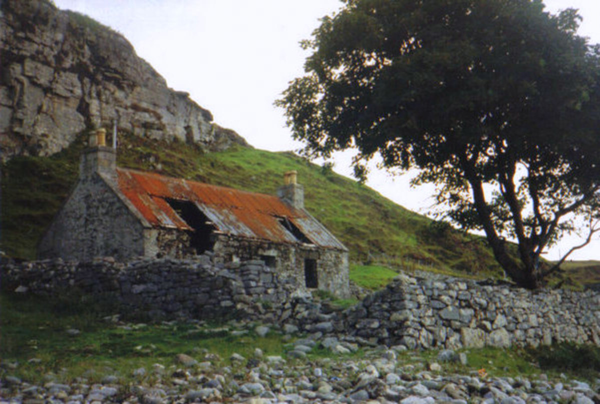 Dilapidated home on the Isle of Skye. Photo by Carol Walker.