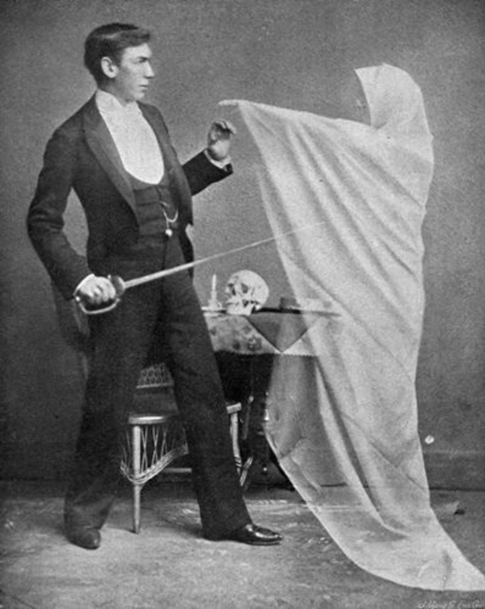 """Photo from """"Hours with the Ghosts or, Nineteenth Century Witchcraft"""" by Henry Ridgely Evans, 1891"""