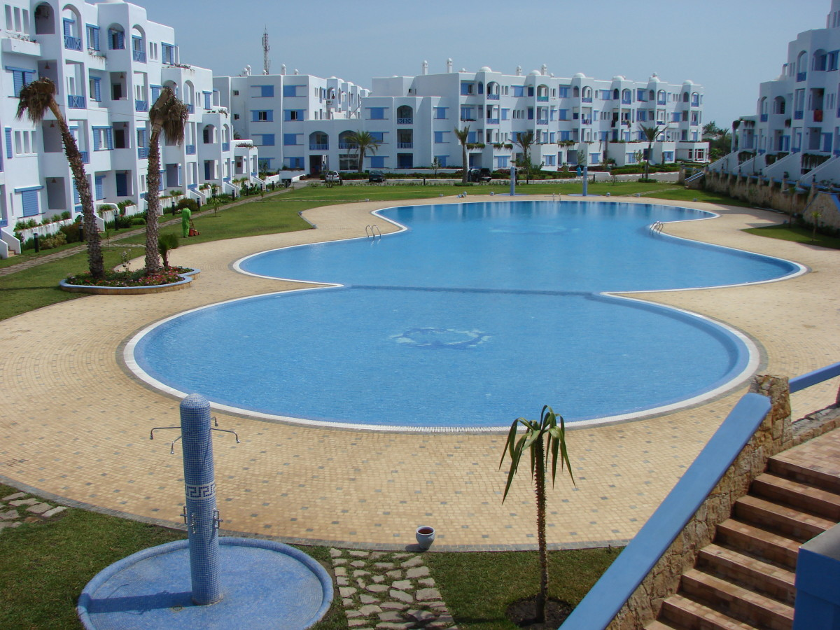 A purpose built apartment with a pool or beach view is  a great place for a vacation