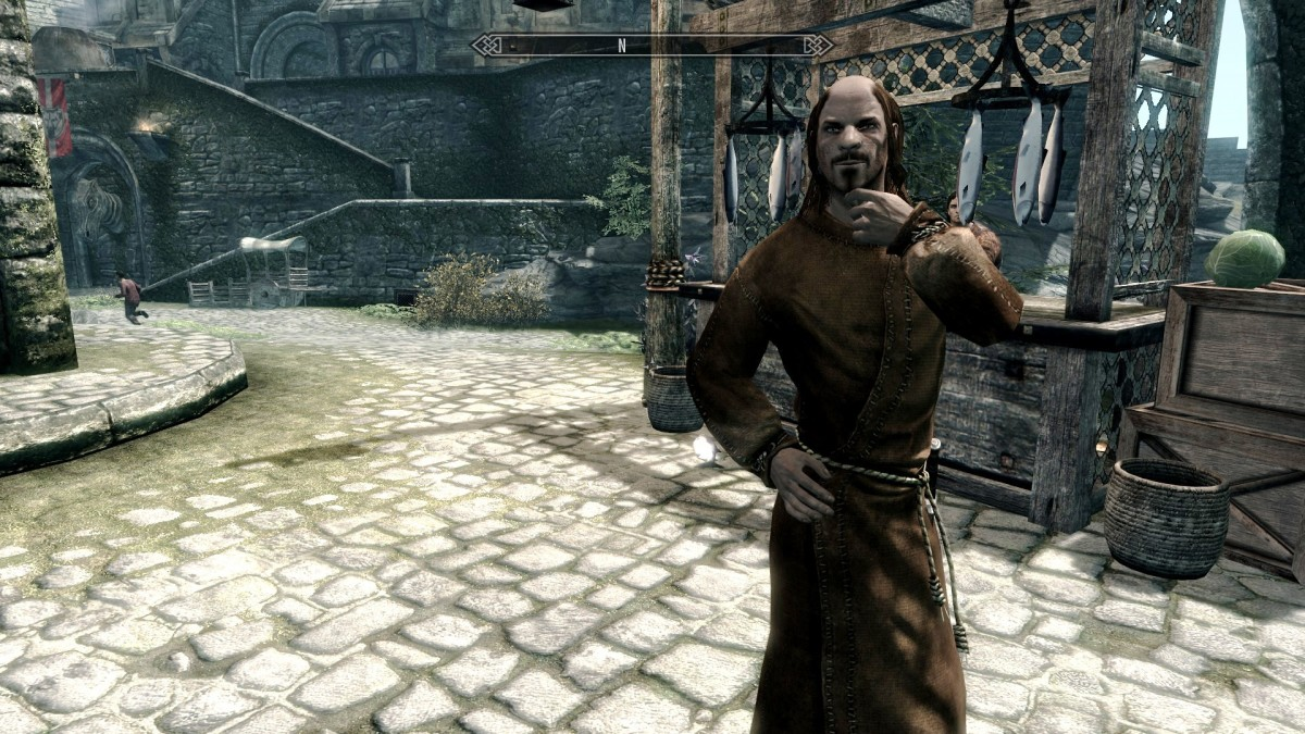 Improved NPC clothing using the Skyrim mod 2X Clothing Re-Mix – Kobayashi's Mix. Picture courtesy of Skyrim Nexus, Bethesda and Zenimax.