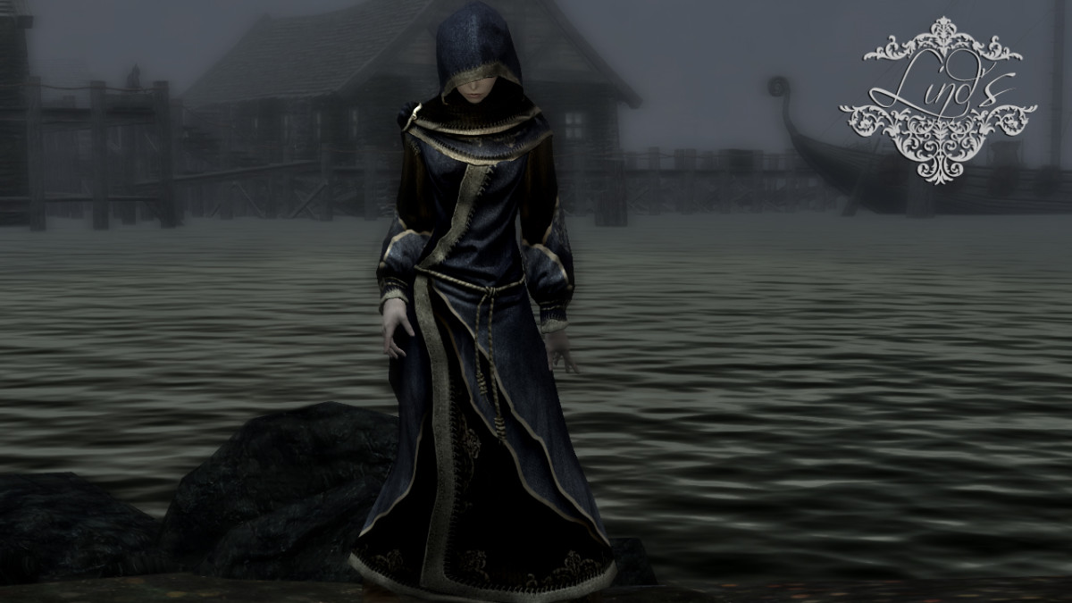 Lind's Court Wizard Robes - Blue Robes Texture Replacer greatly improves the look of the robes worn by wizards.