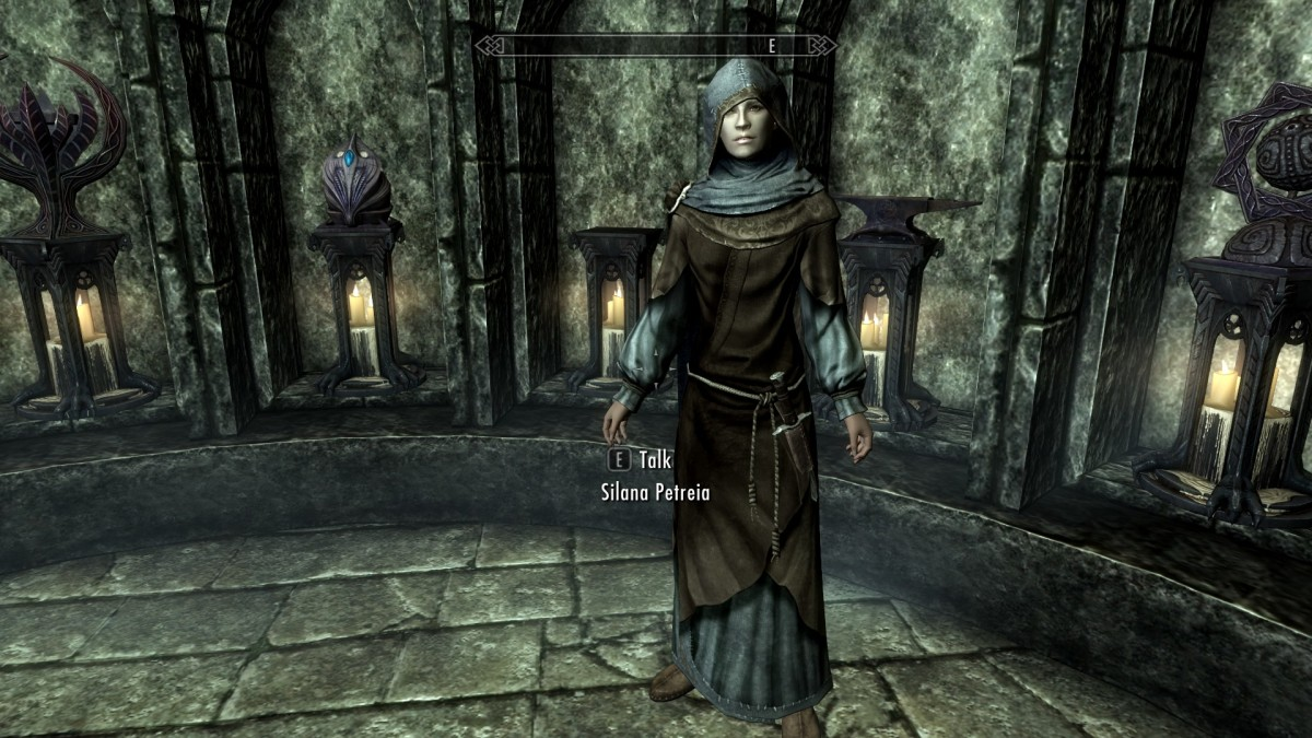The Skyrim mod Monk Robes Revamp greatly improves the look of the robes worn by Priests, Priestesses and Monks. Picture courtesy of Skyrim Nexus, Bethesda and Zenimax.