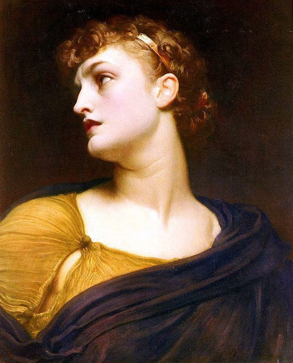 """Antigoneleigh"" by Frederic Leighton - [1]. Licensed under Public Domain via Wikimedia Commons -"
