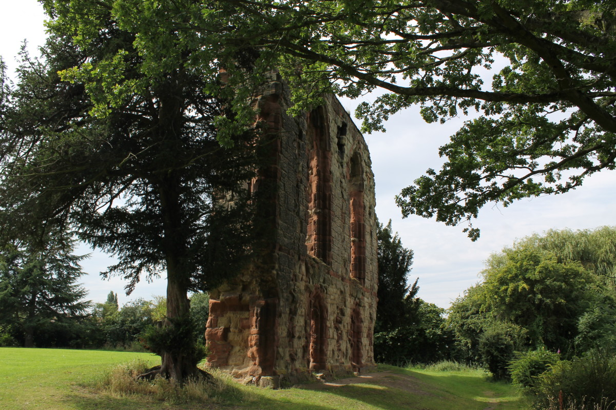 The remains of Caludon Castle in Coventry, said to be the birthplace of Saint George.