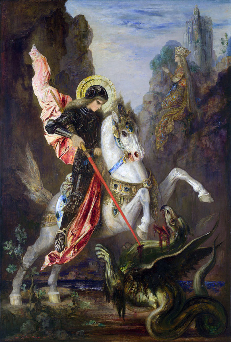 Saint George and the Dragon, by Gustave Moreau (1890)