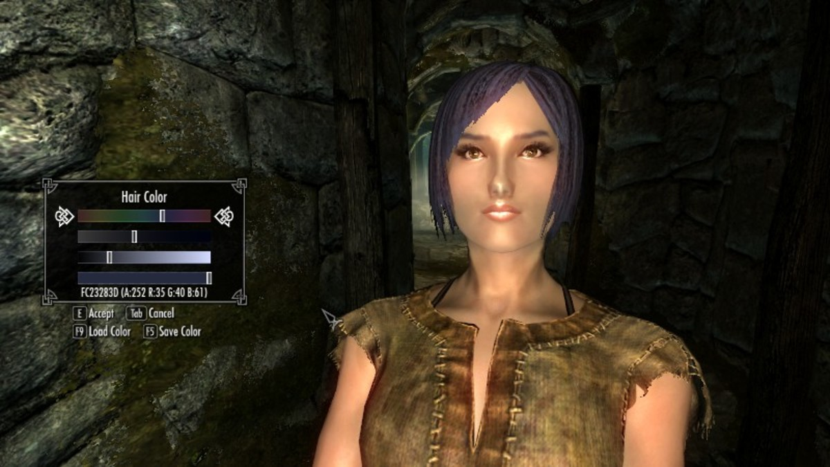 The Race Menu mod gives you a far greater range of colours to choose from when creating your character. Picture courtesy of Skyrim Nexus, Bethesda and Zenimax.