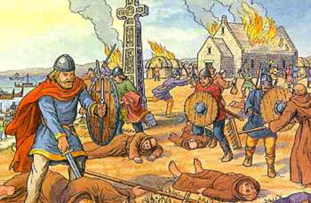 Viking Raid On Lindisfarne In 793 AD