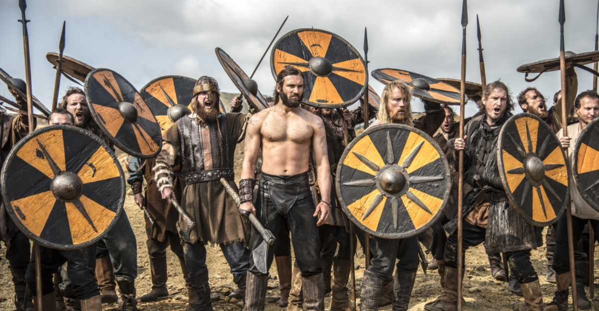 Image of Viking warriors from the popular show Vikings, History channel.