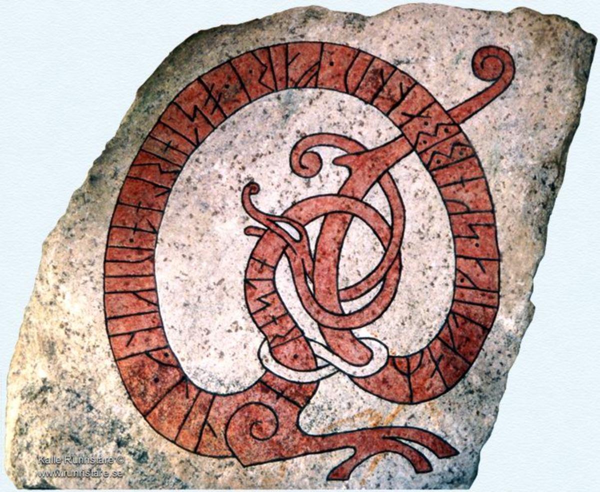 A Rune-stone of the Vikings.