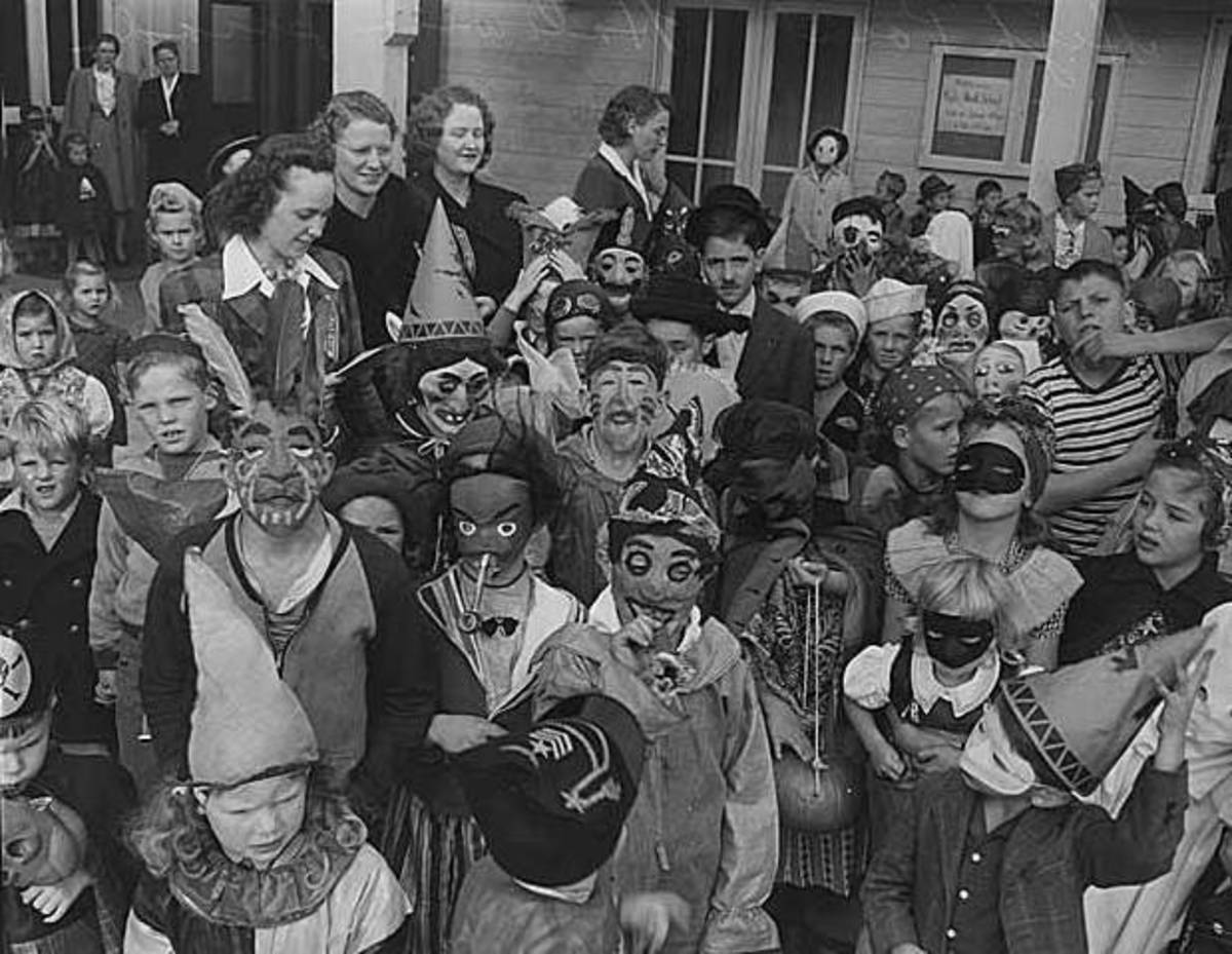Many costumes back in the day were homemade...and therefore MUCH scarier than today's costumes!