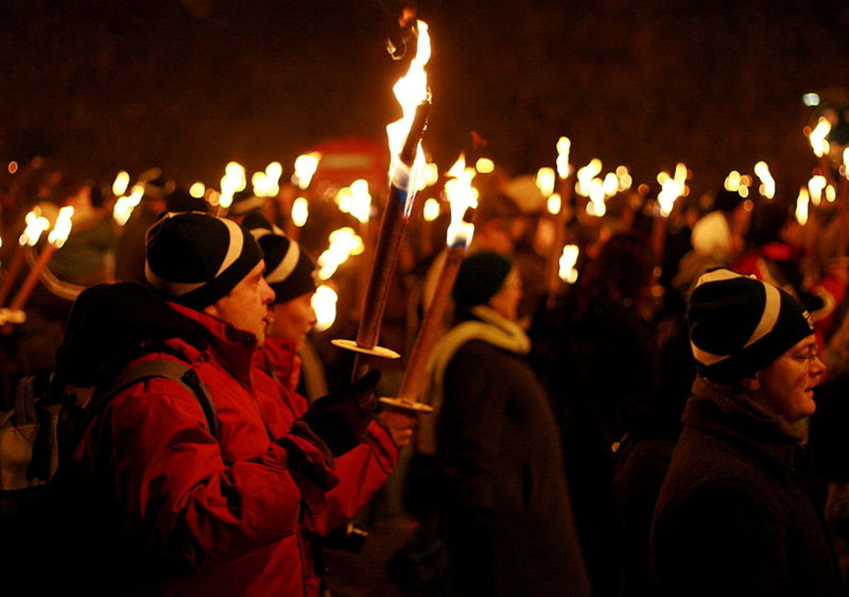 Modern Day Hogmanay in Edinburgh Scotland...no mummers pictured but I'm sure they're there!