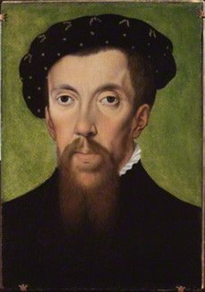 This subtly shows a drooping eyelid. Compare his face to Edward II portrait  My favorite historical figure.