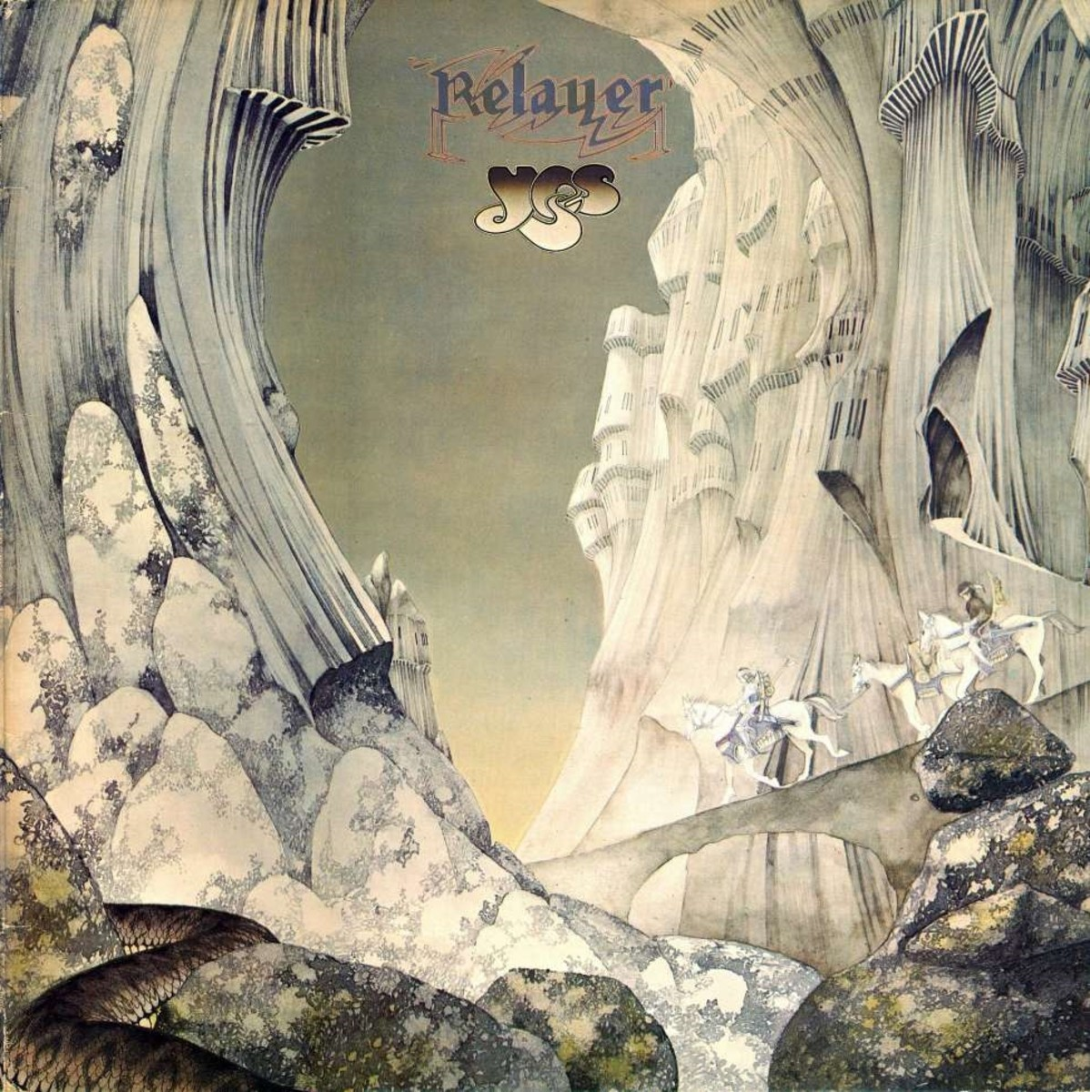"Yes ""Relayer"" Atlantic Records SD 18122 12"" LP Vinyl Record, US Pressing (1974) Gatefold Album Cover Art & Design by Roger Dean"