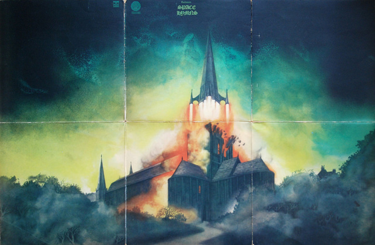 "Complete Six Panel Cover -- Ramases ""Space Hymns"" Vertigo Records 6360 046 12"" LP Vinyl Record UK Pressing (1971)"