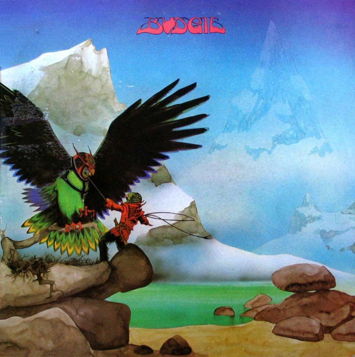 "Budgie ""Never Turn Your Back on a Friend"" MCA Records MDKS 8010 12"" LP Vinyl Record, UK Pressing (1973) Gatefold Album Cover Art & Design by Roger Dean"