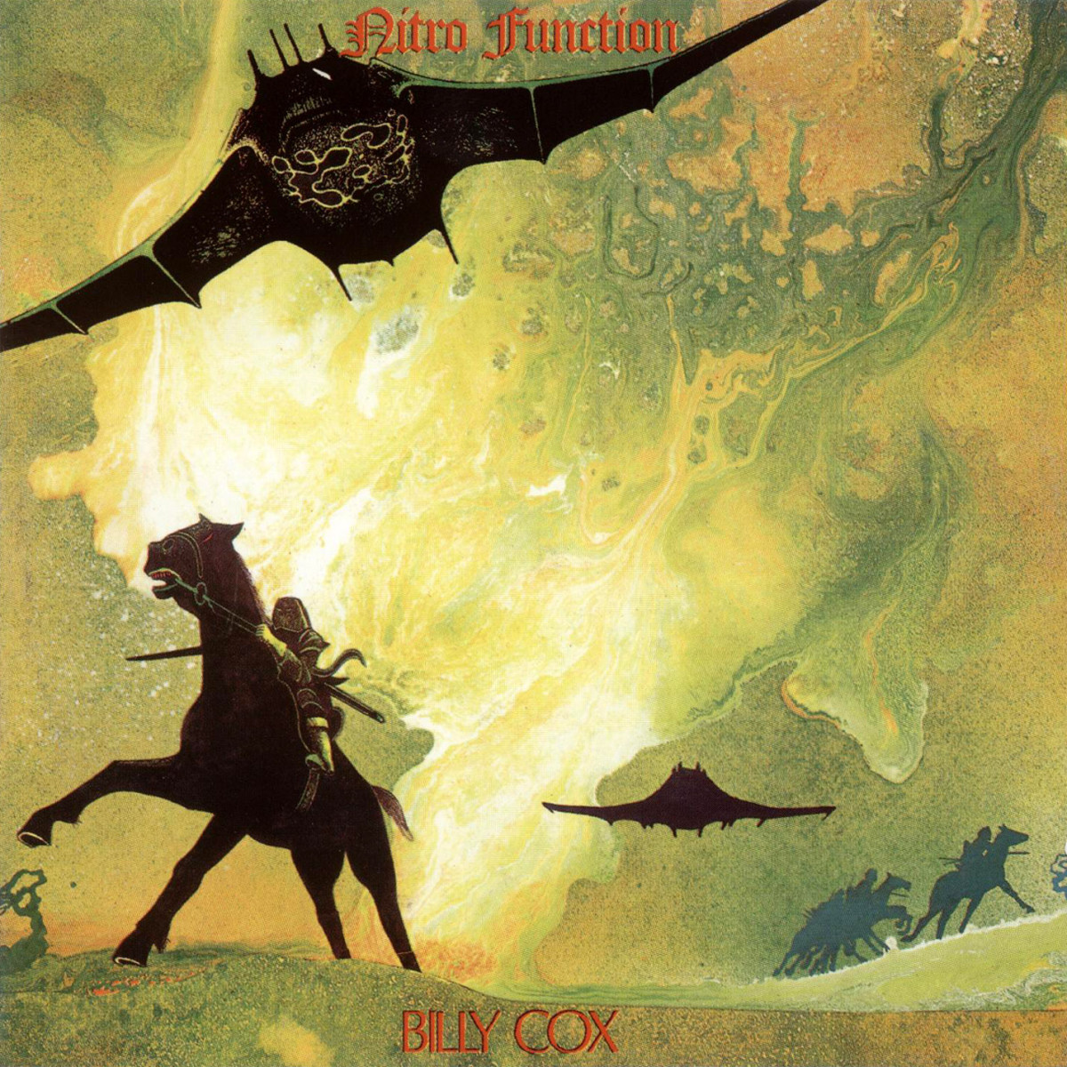 "Billy Cox ""Nitro Function"" PYE International Records 12"" LP Vinyl Record, UK Pressing (1972) Album Cover Art & Design by Roger Dean"