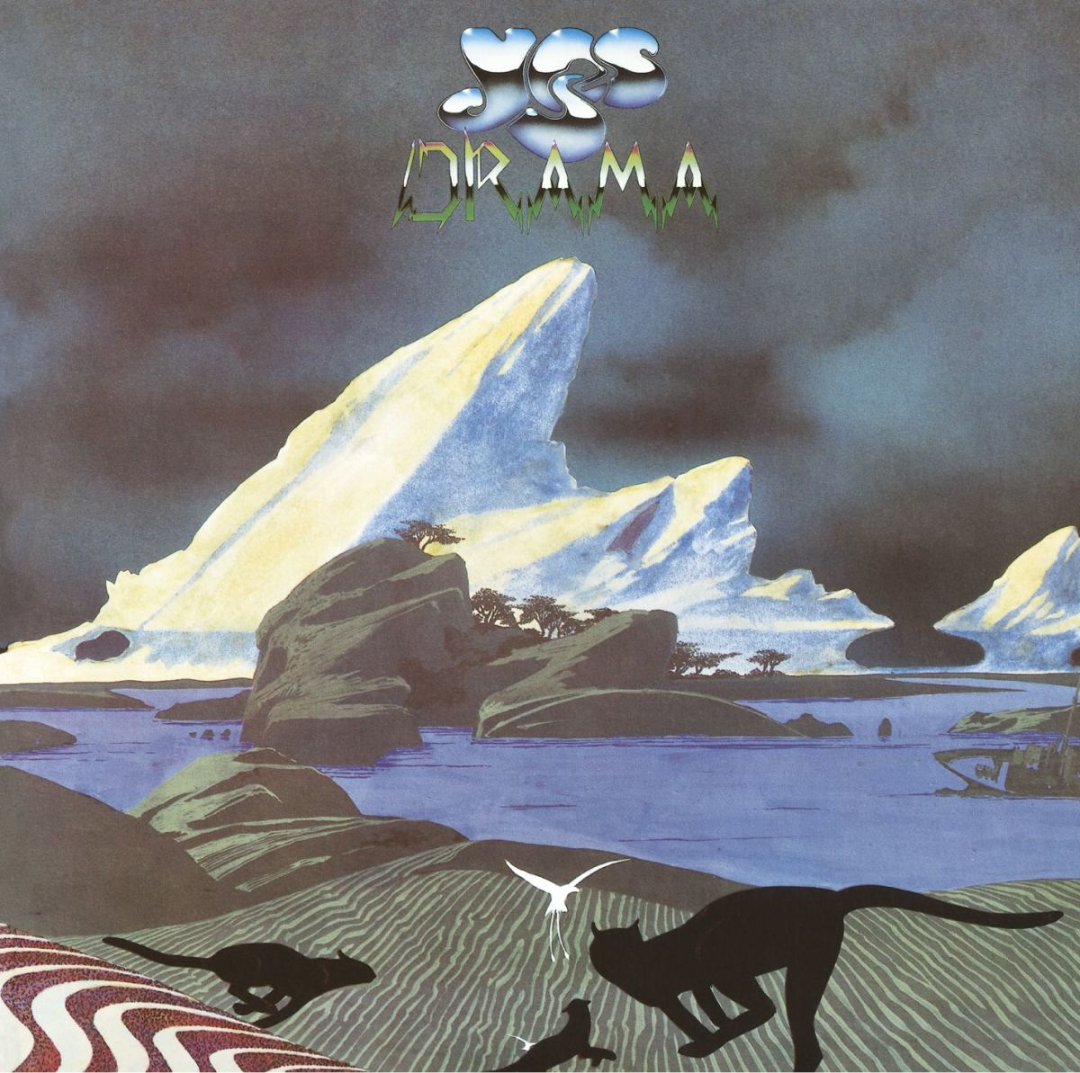 "Yes ""Drama"" Atlantic Records K 50736 12"" LP Vinyl Record, UK Pressing (1980) Album Cover Art & Design by Roger Dean"