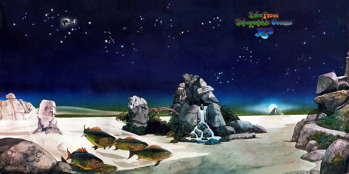 "Yes ""Tales from Topographic Oceans"" Gatefold Album Cover Art (1973) by Roger Dean"