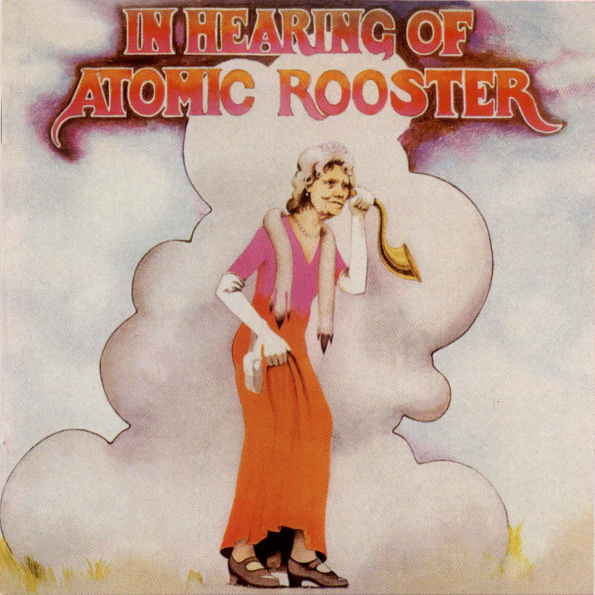 "Atomic Rooster ""In Hearing Of"" Pegasus PEG-1 12"" LP Vinyl Record, UK Pressing (1971) Album Cover Art & Design by Roger Dean"