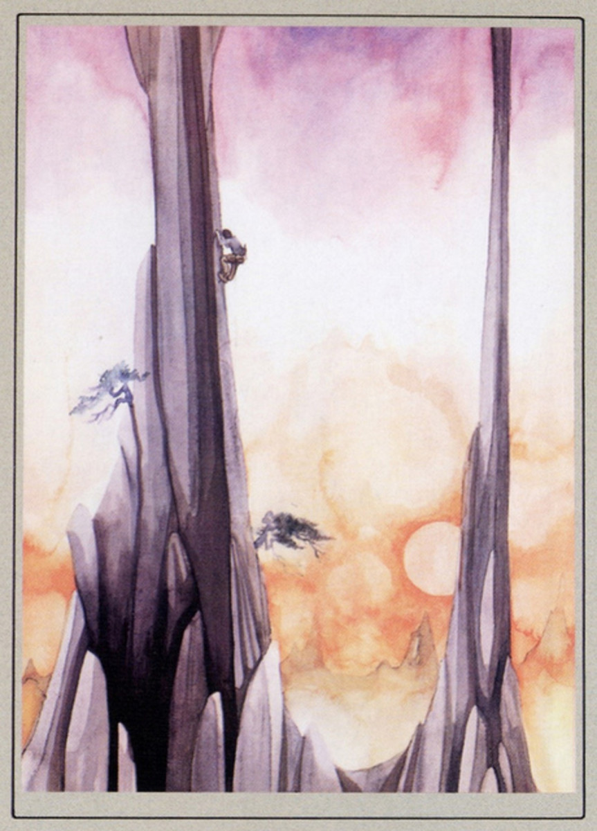 """Back Cover Illustration from the Promotional Booklet Relaesd inside the Yes """"Fragile"""" Album (1971) Illustration by Roger Dean"""