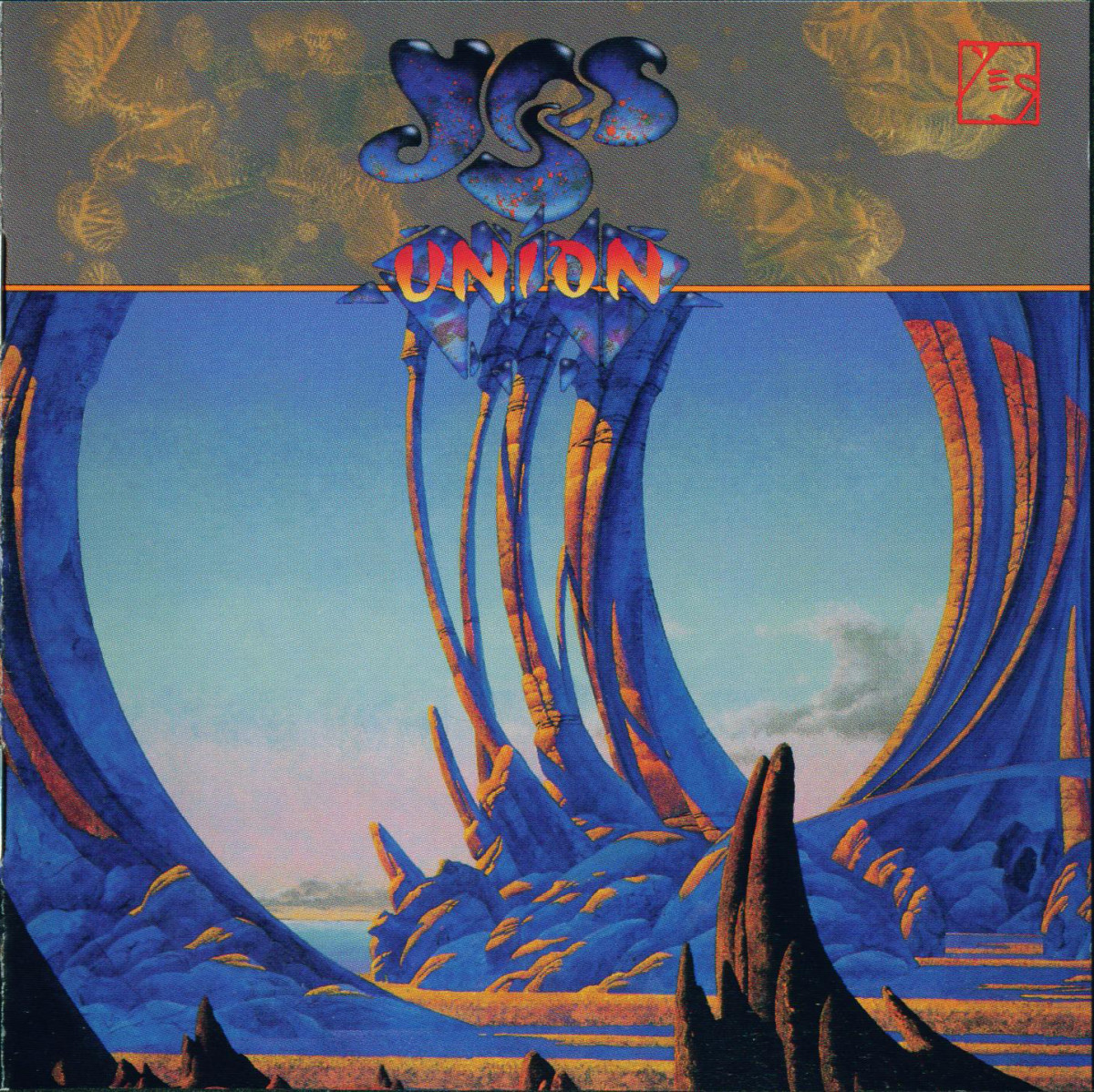 "Yes ""Union"" Arista Records AL-8643 12"" LP Vinyl Record, US Pressing (1991) Album Cover Art & Design by Roger Dean"