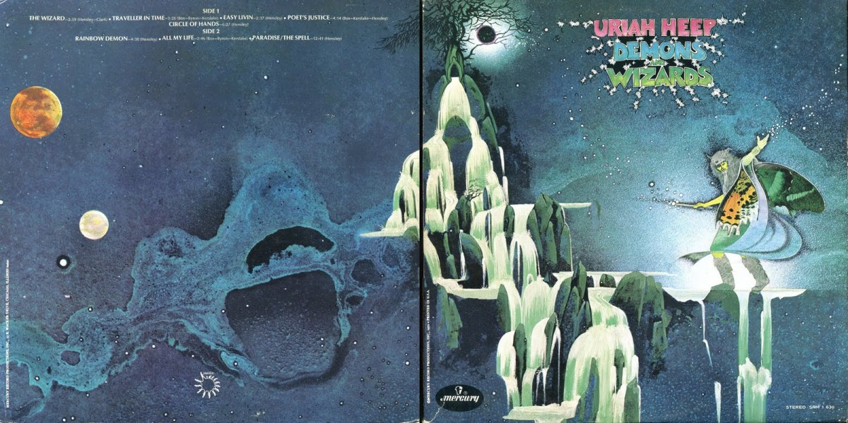 "Uriah Heep ""Demons and Wizards"" Open Gatefold (1972) Cover Art by Roger Dean"