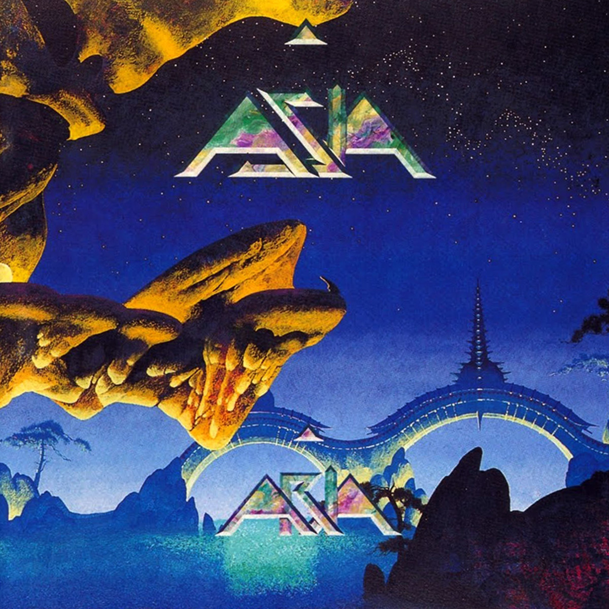 "Asia ""Aria"" IRS Records IRS 951.988 12"" LP Vinyl Record, Greman Pressing (1994) Album Cover Art & Design by Roger Dean"