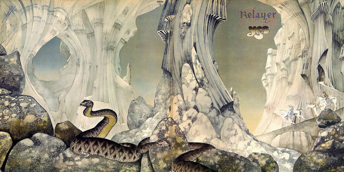 "Yes ""Relayer"" Open Gatefold (1974) Album Cover Art by Roger Dean"