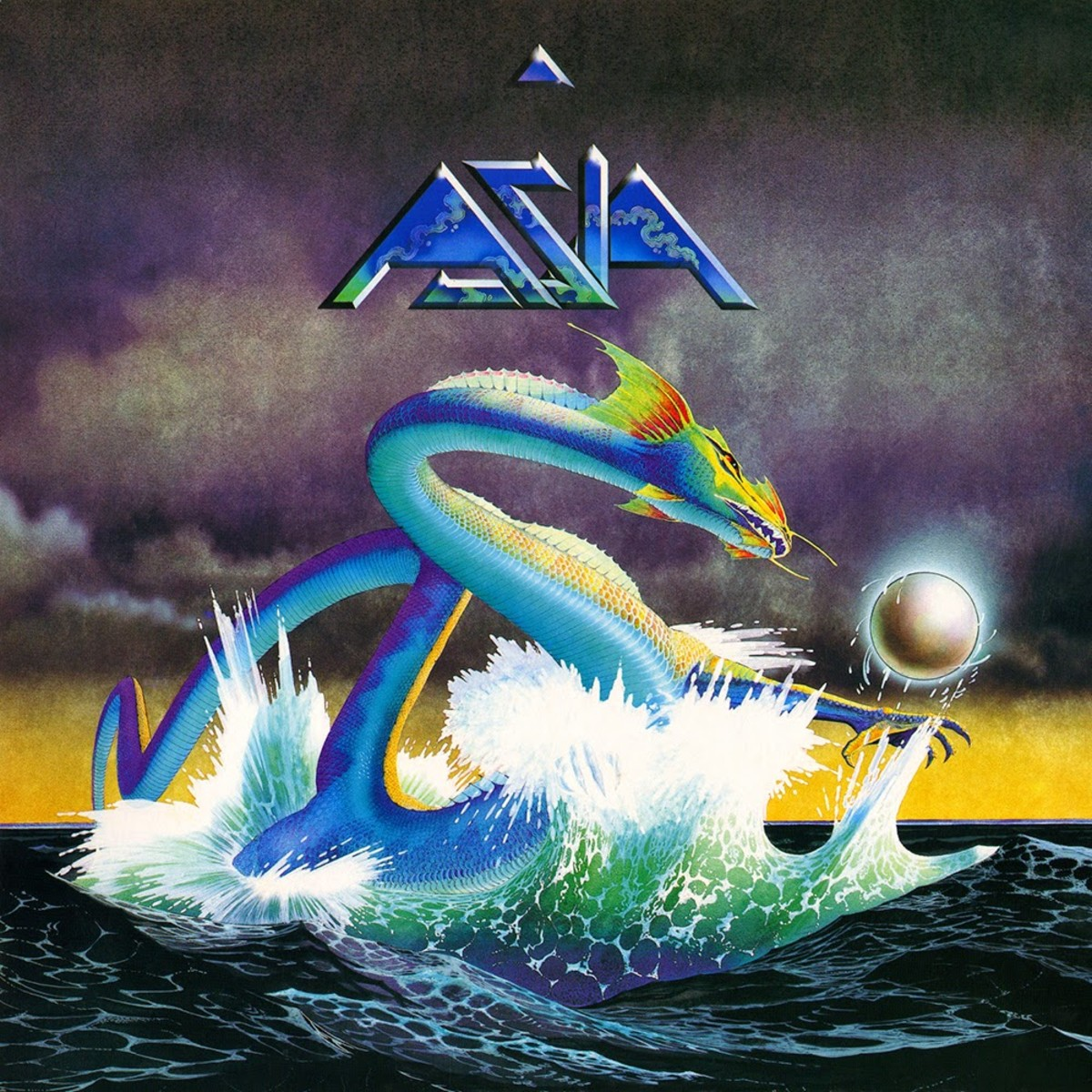 "Asia ""Asia"" Geffen Records GEF 5577 12"" LP Vinyl Record, UK Pressing (1982) Album Cover Art & Design by Roger Dean"