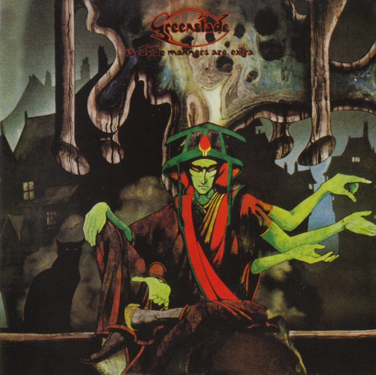 "Greenslade ""Bedside Manners Are Extra"" Warner Brothers Records K46259 12"" LP Vinyl Record, UK Pressing (1973) Gatefold Album Cover Art by Roger Dean"