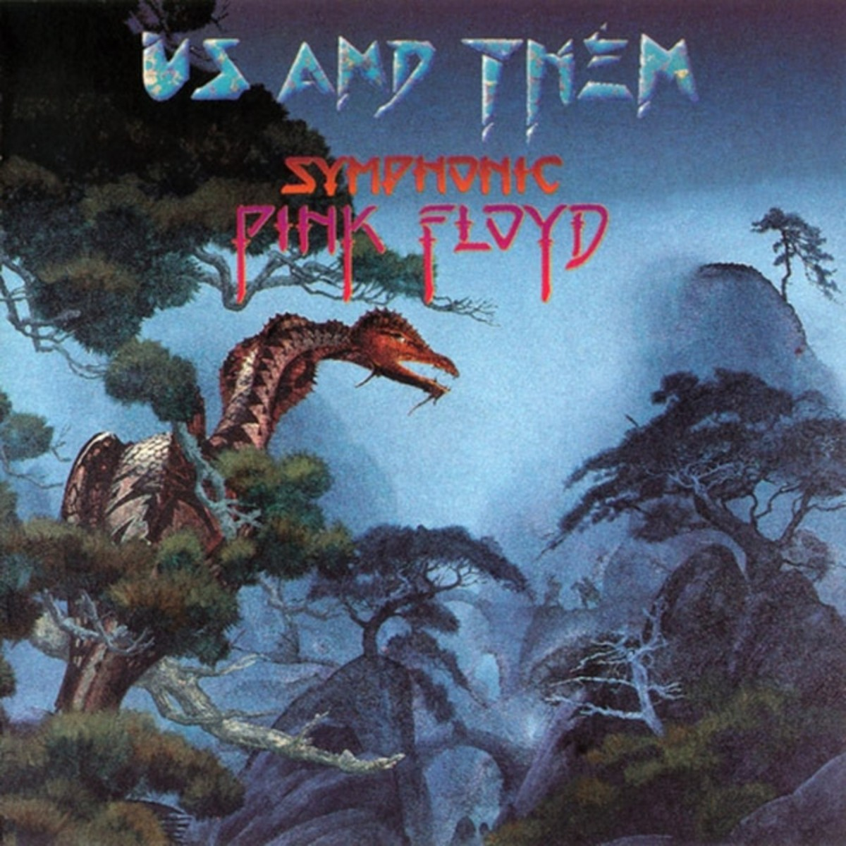 "Various Artist ""Us And Them: Symphonic Pink Floyd"" Point Music 446 623-2 US Pressing (1995) CD Album Cover Art & Design by Roger Dean"